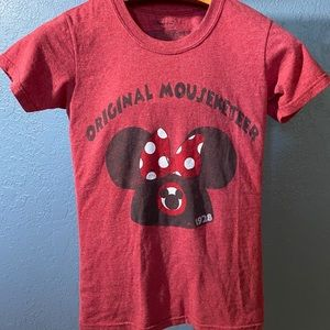 Disney Store XS Minnie Original Mouseketeer Shirt